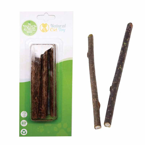 NATURAL CAT TOYS Silver Vine Sticks, 10pk