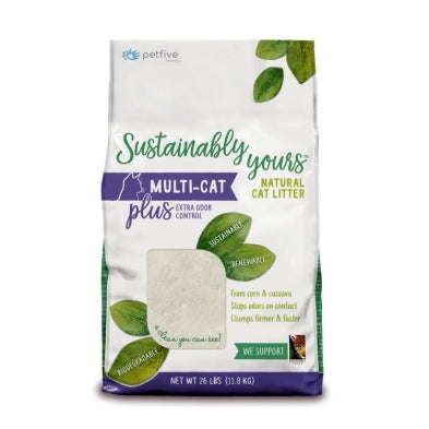 SUSTAINABLY YOURS Multicat Plus Litter, 26lb