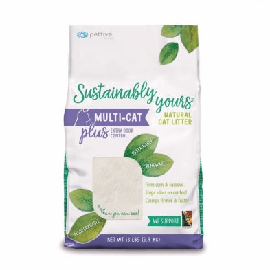 SUSTAINABLY YOURS Multi-Cat Plus Litter, 13lbs