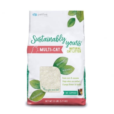 SUSTAINABLY YOURS Multi-Cat Litter, 13lbs