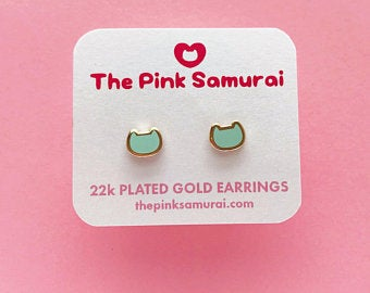 THE PINK SAMURAI 22k Gold Plated Earrings, assorted colours