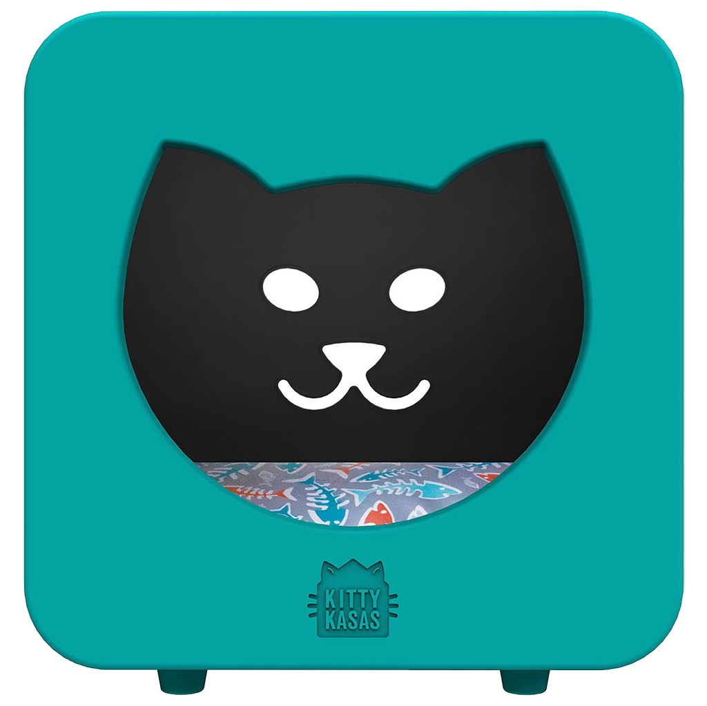 KITTY KASA Bedroom Snap-Together Hideaway Bed, Teal