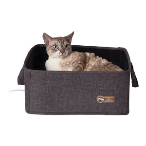 "K&H PET Thermo Basket Bed Grey, 15""x15"" 4 watt"