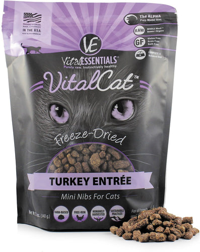 VITAL ESSENTIALS Freeze-Dried Turkey Mini Nibs, 12oz