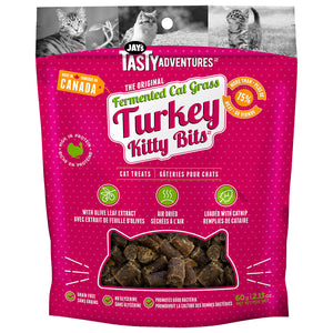JAY'S Fermented Cat Grass Turkey Kitty Bits, 60g