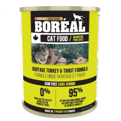 BOREAL Heritage Turkey & Trout, 369g *CASE (12 cans)*