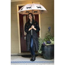 Load image into Gallery viewer, THE SAN FRANCISCO UMBRELLA COMPANY Black on Warm Taupe Umbrella