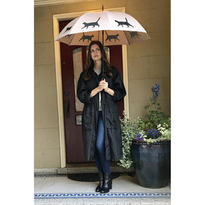 THE SAN FRANCISCO UMBRELLA COMPANY Black on Warm Taupe Umbrella