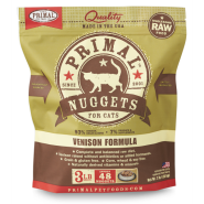 PRIMAL Frozen Raw Venison Nuggets, 3lbs