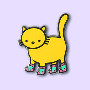 PONY PEOPLE Sock Kitty Pin