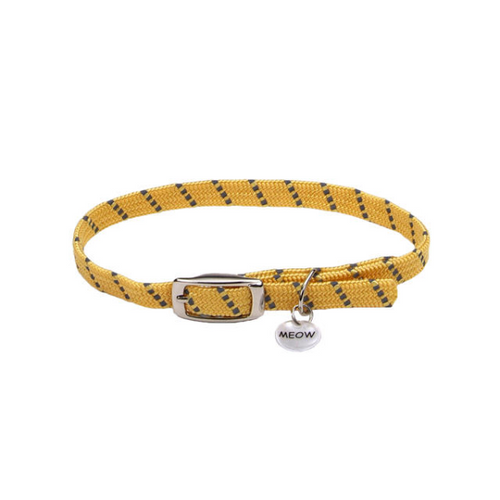 COASTAL ElastaCat Reflective Safety Stretch Collar, yellow