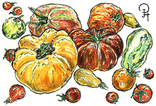 Single Postcard, Heirloom Tomatoes
