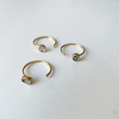 Gold Abalone Open Ring