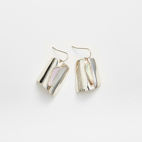 Silver Abalone Earrings No. 6
