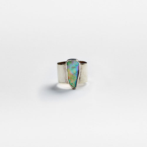 Silver Abalone Ring No. 10 - Size 7