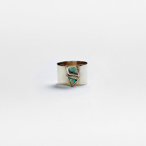 Silver Abalone Ring No. 17 - Size 6 1/2