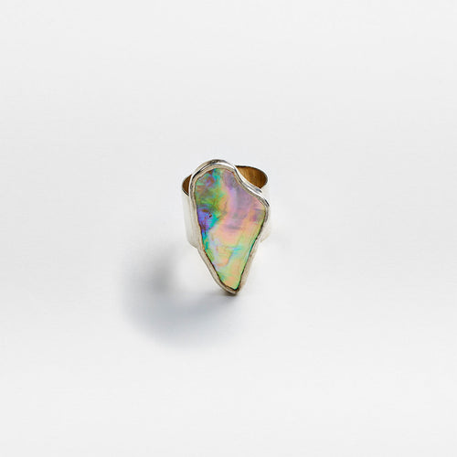 Silver Abalone Ring No. 1 - Size 8