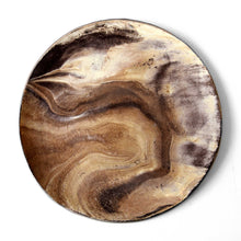 Load image into Gallery viewer, Medium Brown / Ivory Ceramic Plate
