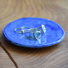 Load image into Gallery viewer, Mini Blue Ceramic Plate