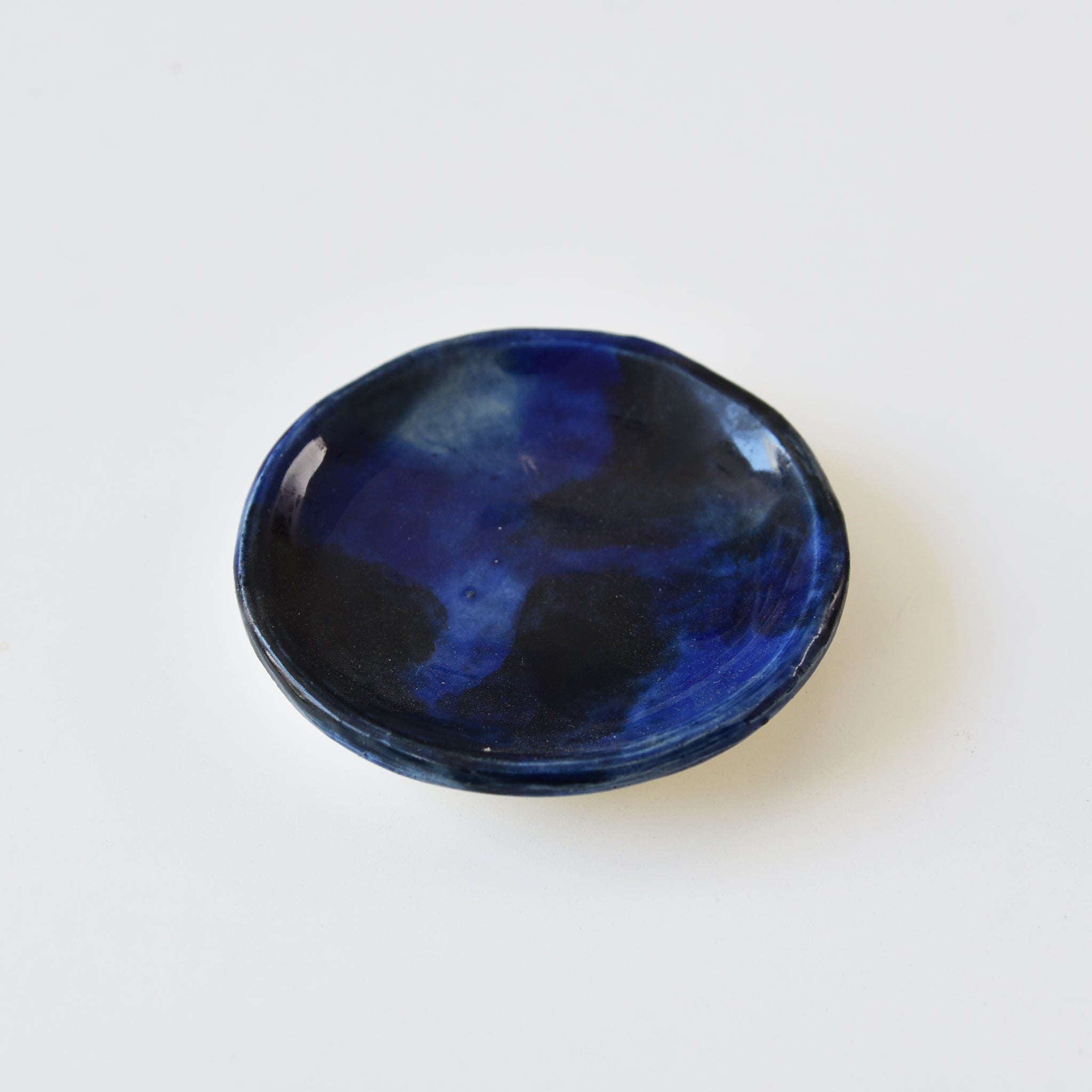 Mini Dark Blue Ceramic Plate