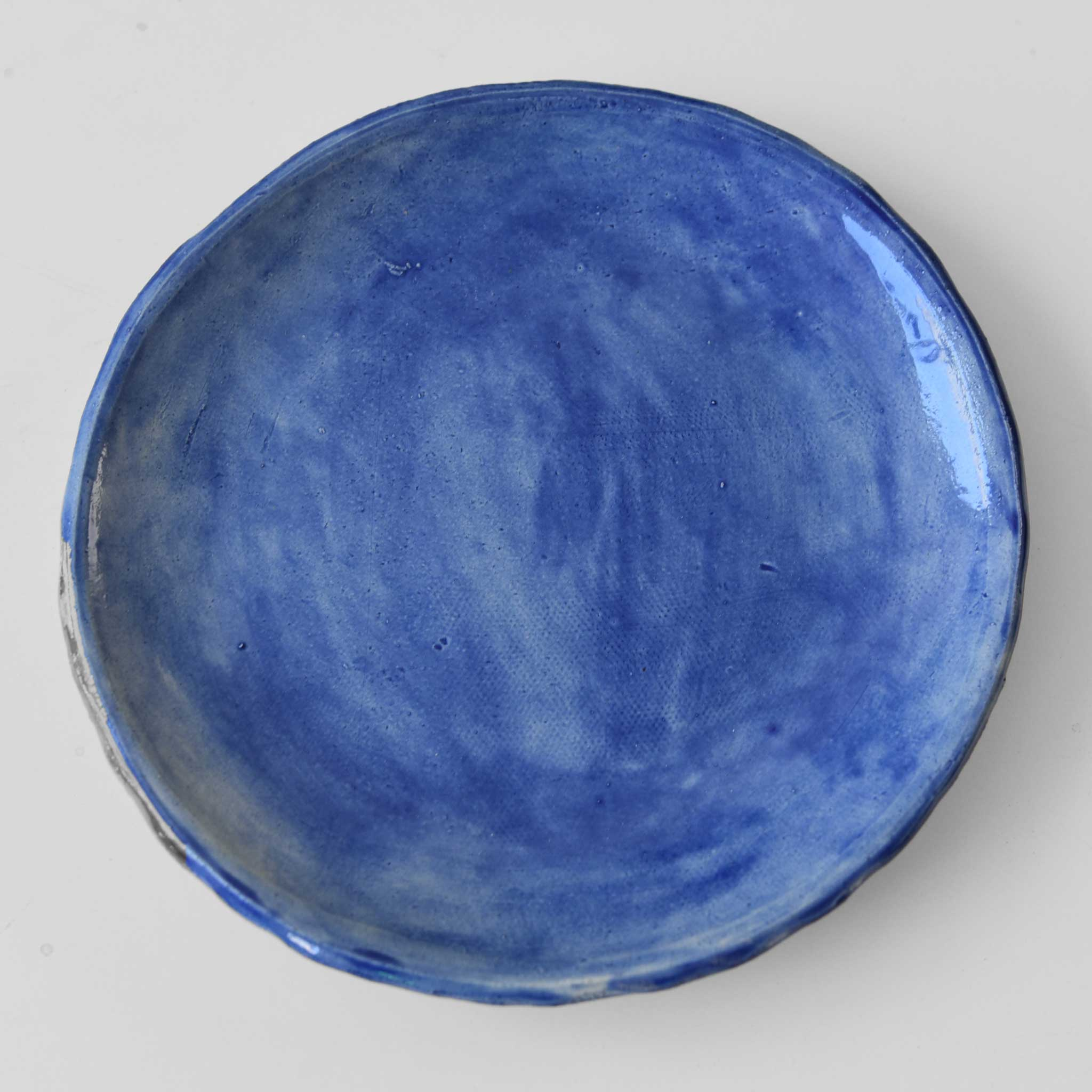 Large Blue Ceramic Plate
