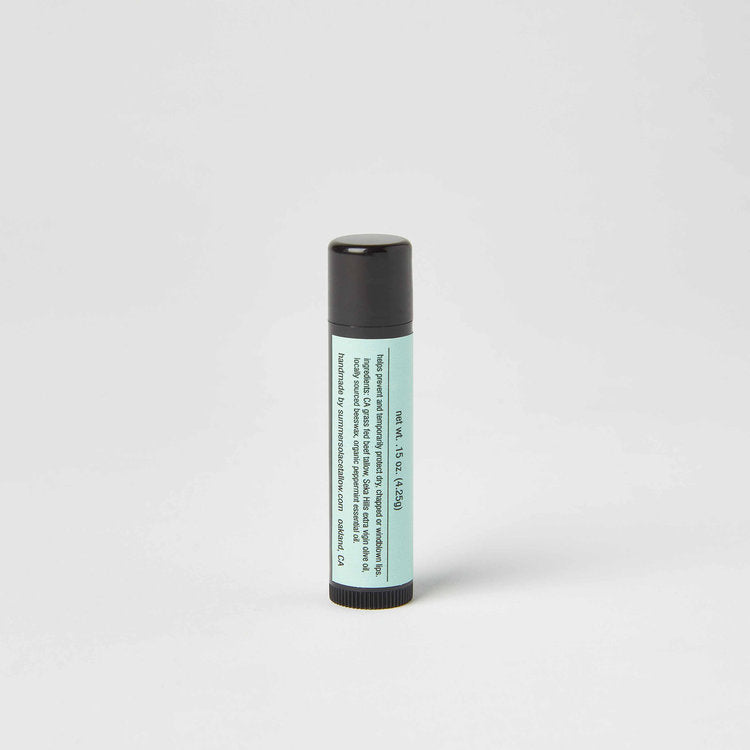 Summer Solace Peppermint Tallow Lip Balm