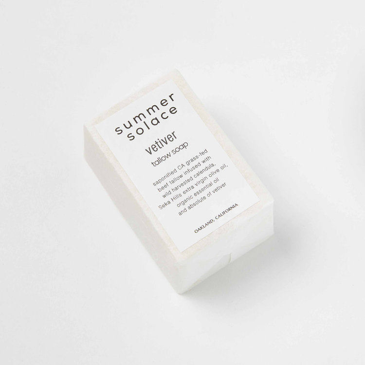 Summer Solace Vetiver Tallow Soap