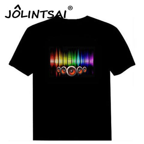Sound Activated LED Equalizer Disco T Shirt - HipHawker