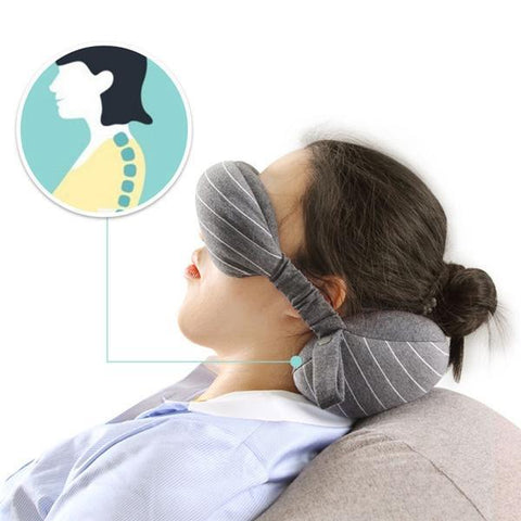 2-in-1 Travel Neck Pillow & Eye Mask - HipHawker