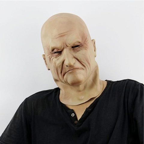 Realistic Halloween Latex Old Man Mask - HipHawker