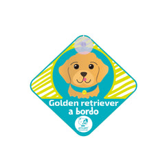 Letrero a bordo diseño Golden Retriever