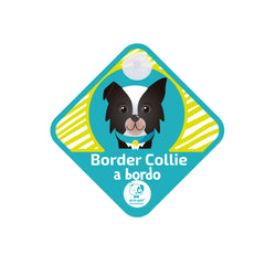 Letrero a bordo diseño Border Collie