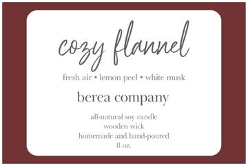 Berea Candle - Cozy Flannel