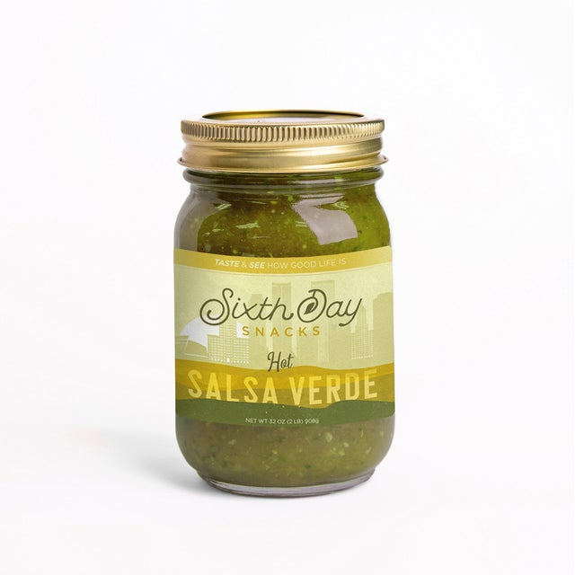 Sixth Day Snacks Salsa Verde Hot