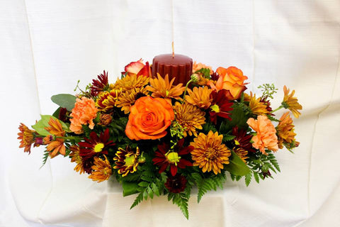 Deluxe Fall Centerpiece with Candle
