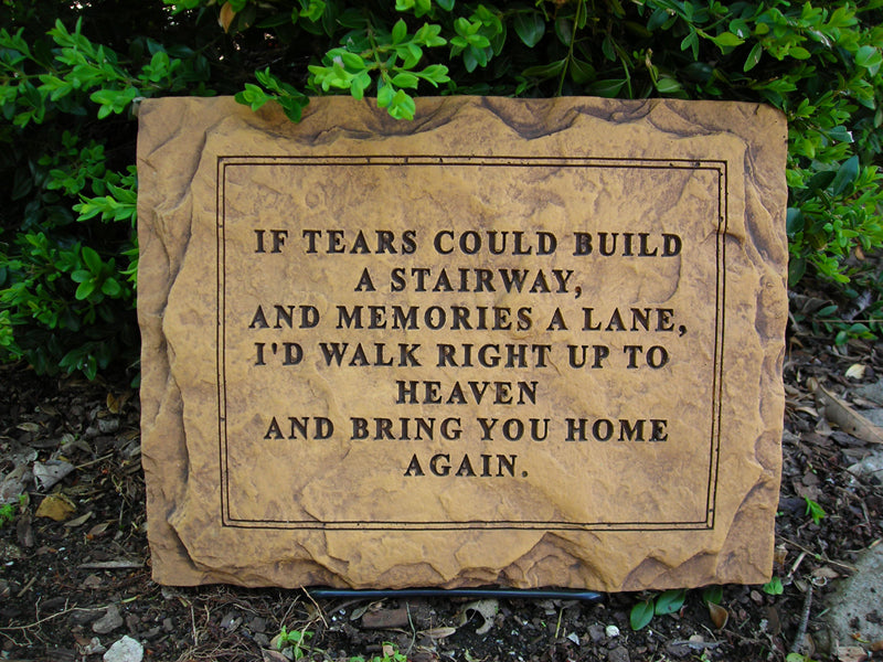 If Tears Could Build... Medium Memorial Stone