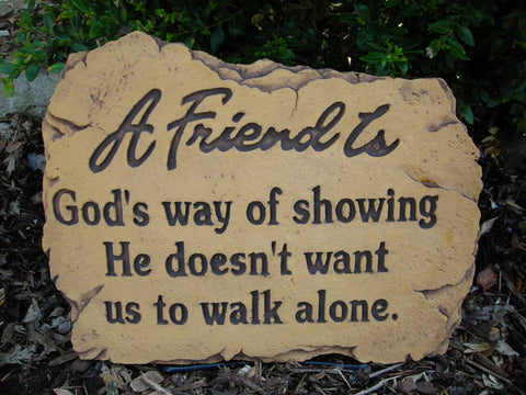 A Friend Is... Medium Memorial Stone
