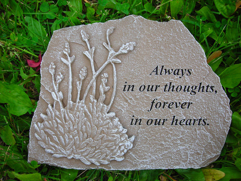 Always in Our Thougths... Medium Memorial Stone