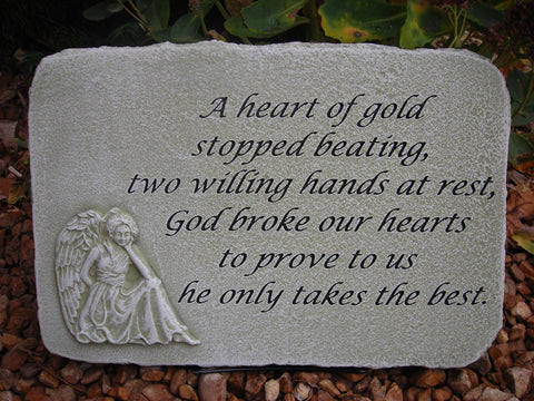 A Heart of Gold... Large Memorial Stone