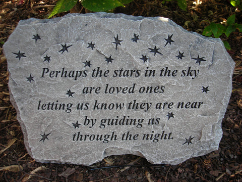 Perhaps the Stars... Large Memorial Stone