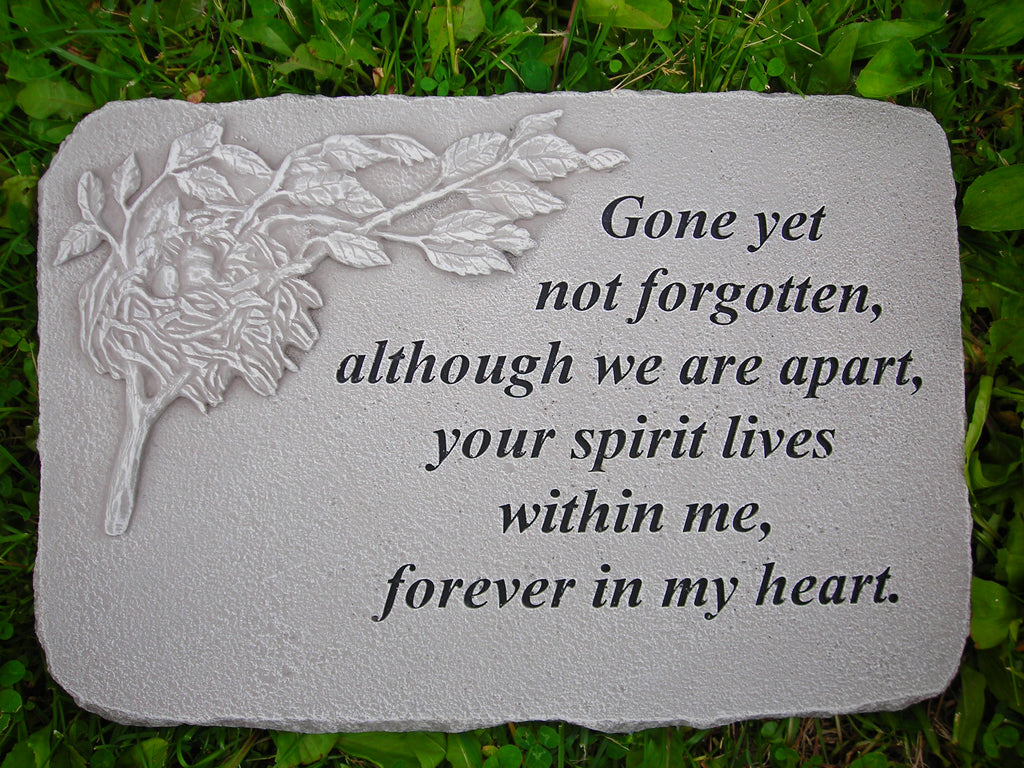 Gone Yet Not Forgotten... Large Memorial Stone