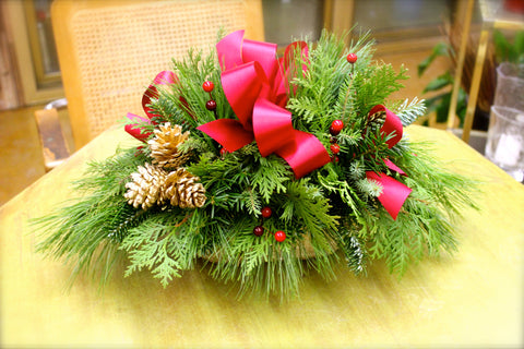 Holiday Ribbon Centerpiece