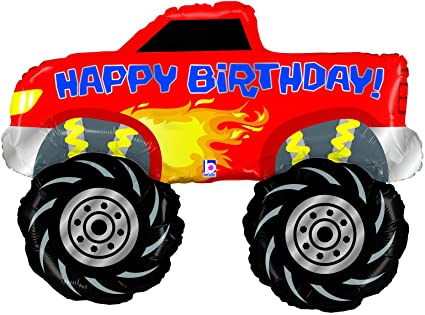 Jumbo Monster Truck Happy Birthday Balloon