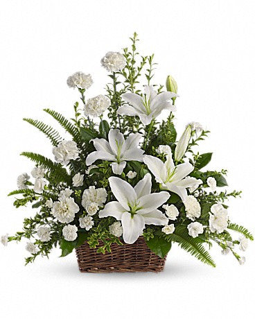 Peaceful in White Basket