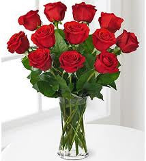 Dozen Long Stem Red Rose Bouquet
