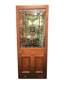 "Half Stained Glass Door - 33 1/4"" x 80 1/2"""