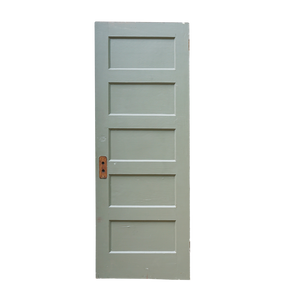 5 Panel Wooden Door Horizontal
