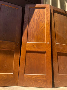 2 Panel Wooden Door - SET