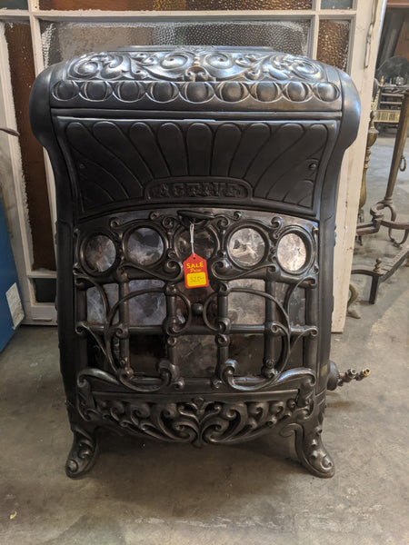 Antique Cast Iron and Mica Gas Stove