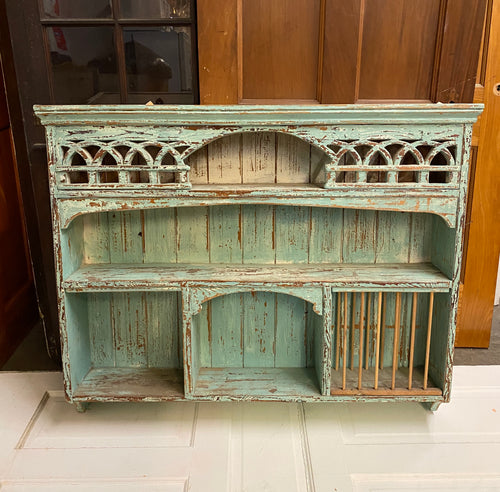 Wall Cabinet/Hutch with Fretwork